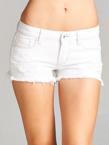 Daisy Cut-Off's - White