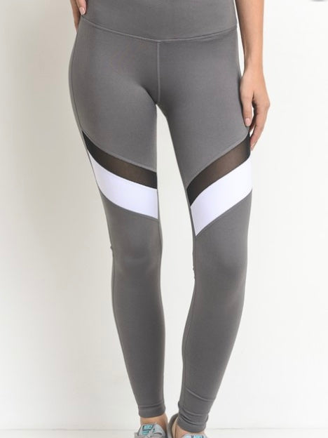 Accelerate Workout Leggings - Grey