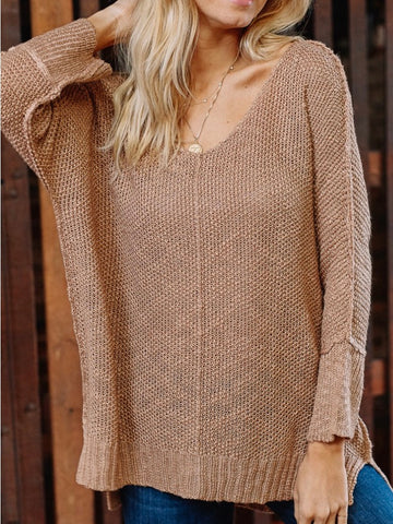 Ocean View Sweater - Taupe