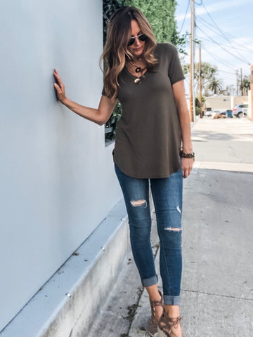BEST Tunic Tee - Olive
