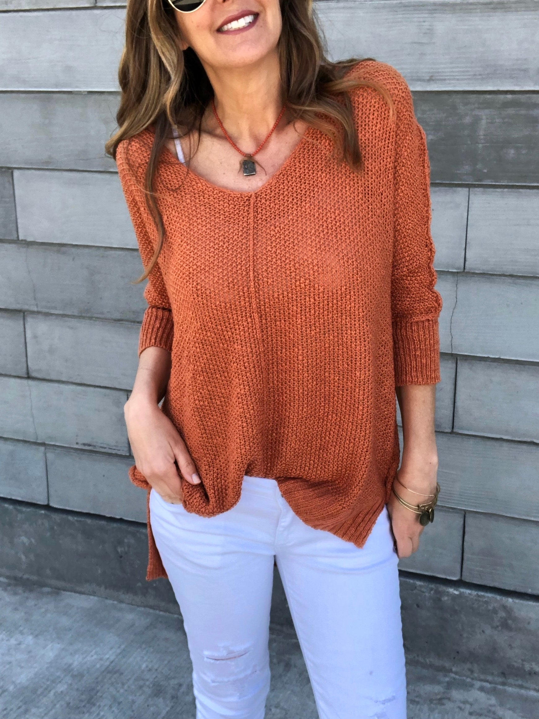 Ocean View Sweater - Tawny