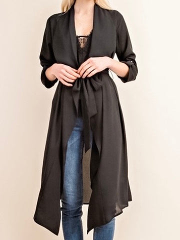 Trench Cardigan - Black