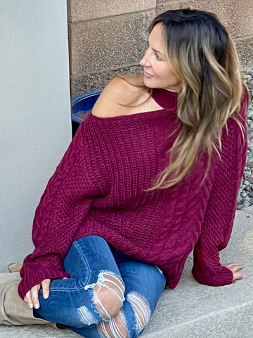 ELLISTON Sweater - Burgundy