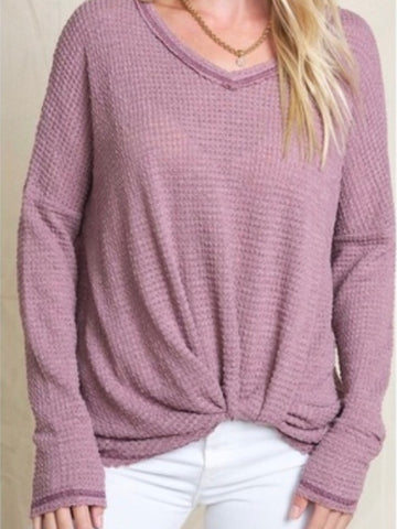 TWIRL ME Thermal Top - Berry