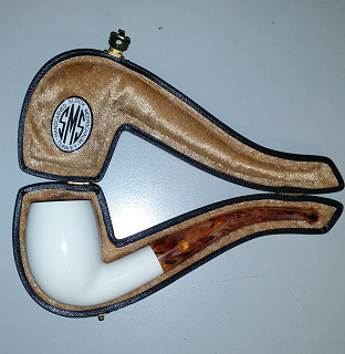 SMS Meerschaum Smooth Bent Billiard