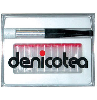 Denicotea Cigarette Holder Long Black with Silver Tip