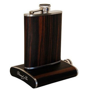 Brizard & Co. 6 oz Flask - Macassar Ebony