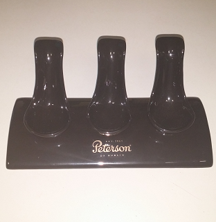 Peterson Black Ceramic 3 Pipe Stand / SOLD