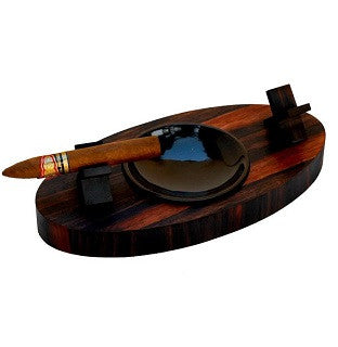 Brizard & Co. Deck Ashtray Double - Macassar Ebony