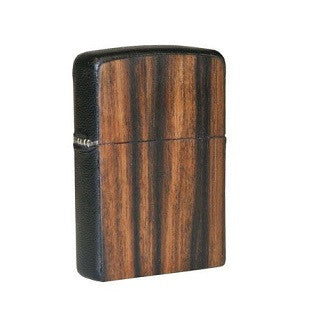 Brizard & Co. Zippo Lighter - Rosewood and Black Leather