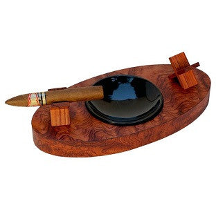 Brizard & Co. Deck Ashtray Double - Bubinga / SOLD