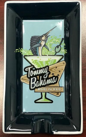 TOMMY BAHAMA MARLIN BAR CERAMIC ASHTRAY