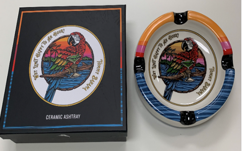 TOMMY BAHAMA  HAPPY HOUR PARROT ASHTRAY