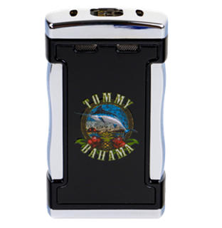 Tommy Bahama Table Top Quad Torch Lighter - Cigar Band