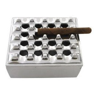 "7"" Square Grid Cigar Ashtray"