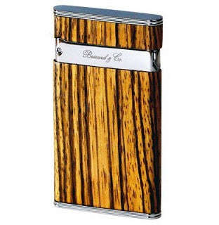 Brizard & Co. Sottile Premium Lighter - Zebra Wood / SOLD