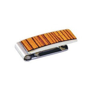 Brizard & Co. Money Clip - Zebra Wood