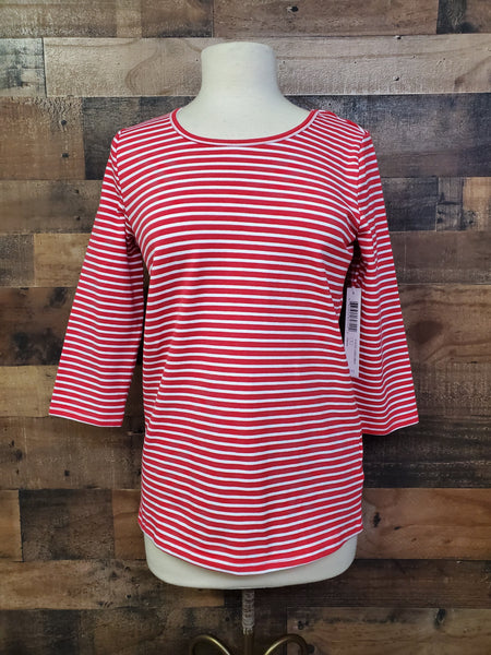 Tribal 3707o-2930 Back Detail Striped Top