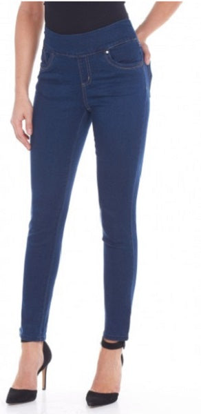 "FDJ French Dressing Jeans INDIGO, DENIM, BLACK, White #229806N 28"" Slim Ankle Jegging - Hull"