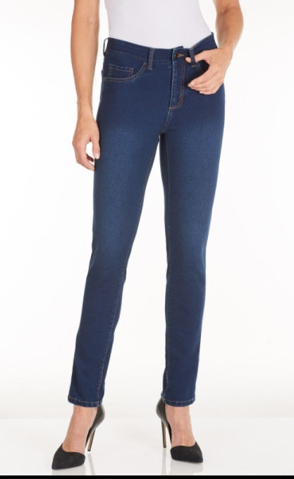 "FDJ French Dressing Jeans INDIGO or JET BLACK #2519601 KNIT DENIM 28"" Olivia Slim Ankle Jeans - Hull"