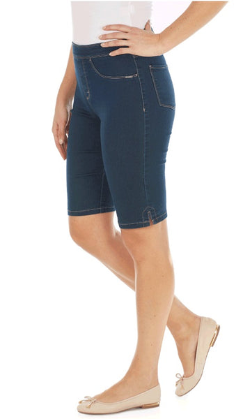 FDJ French Dressing Jeans INDIGO, ALMOND #272406N Pull On BERMUDA
