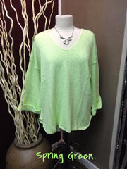 Avalin--20+ COLORS--Oversized All Cotton Sweater #9079 Made in U.S.A. - Hull's of Frankfort