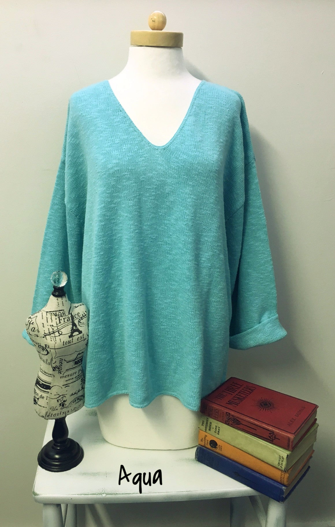 Avalin--20+ COLORS--Oversized All Cotton Sweater #9079 Made in U.S.A. - Hull
