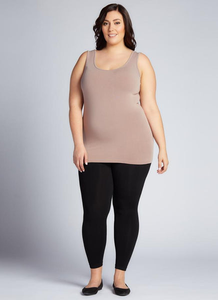 PLUS SIZE FLEECE LINED LEGGINGS by C'Est Moi