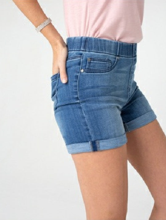 "Liverpool Jean Shorts #LM9086CH4 Chloe Rolled Cuff 4.75"" inseam - Hull"