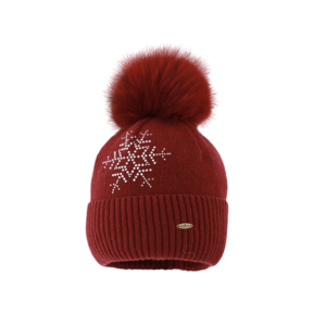 Starling Faux Fur Star Embellished Beanie Hat C037 STAR