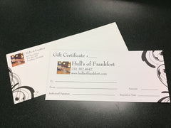 $50 Hull's Gift Certificate - Hull's of Frankfort