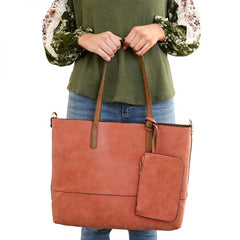 JOY SUSAN #L8012  2-in-1 Tote Bag (LOTS of colors)