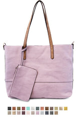 JOY SUSAN #L8012  2-in-1 Tote Bag (LOTS of colors) - Hull's of Frankfort