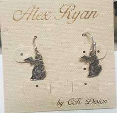 State of MICHIGAN Small Silver Dangle Earrings - Hull's of Frankfort