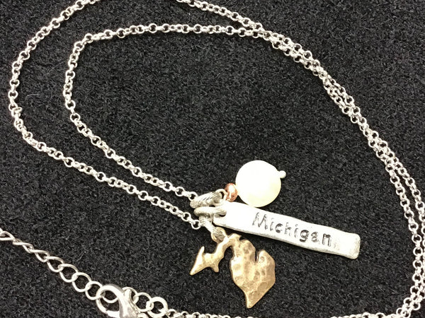 "MICHIGAN 24"" Long Charm Necklace BEST SELLER!"