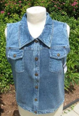 PBJ Blues Denim & Knit Sweater Vest #BL071 INDIGO - Hull's of Frankfort