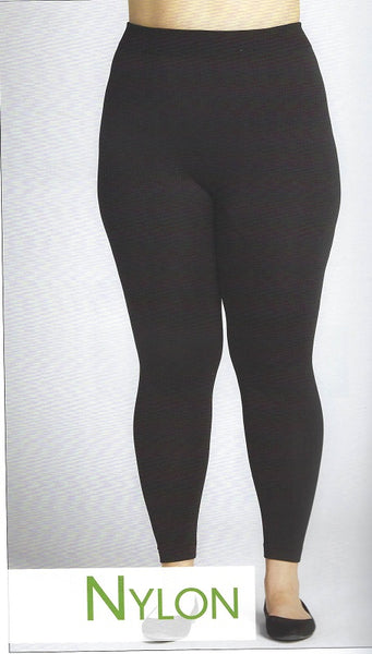 PLUS SIZE FLEECE LINED LEGGINGS by C'Est Moi CEFLP8001