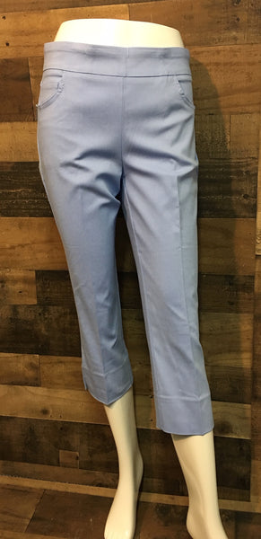 "Renuar SKY, SILVER, NEW MIDNIGHT or WHITE #R8078 E730 21"" Capri Pant"