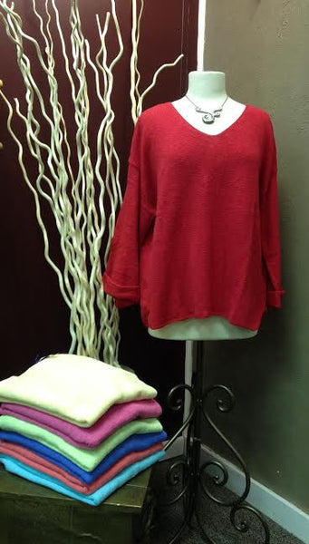 Avalin Sweaters--20+ COLORS--Oversized All Cotton Sweater #9079 Made in U.S.A.