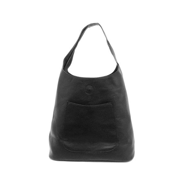 JOY SUSAN L8017-00 Black Molly Slouchy Hobo Handbag - Hull