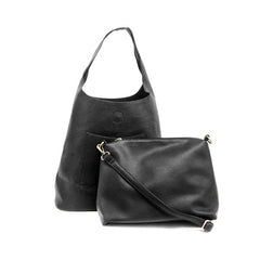 JOY SUSAN L8017-00 Black Molly Slouchy Hobo Handbag - Hull's of Frankfort