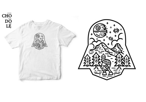 Áo thun unisex cotton 100% in hình Star wars- Dark Nature of Death Vader