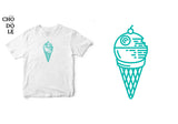 Áo thun unisex cotton 100% in hình Death Ice Cream