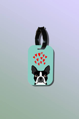 Travel Tag - Heart Boston Terrier