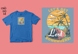 Áo thun unisex cotton 100% in hình Lets get lost some where - beach camping