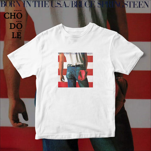 ÁO THUN UNISEX COTTON 100% IN HÌNH  - Bruce Spingsteen - Born in the USA  (Album cover)