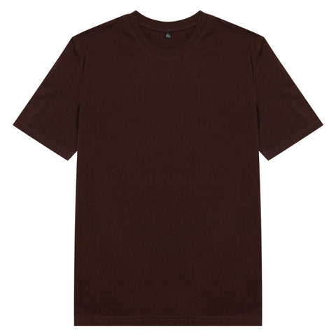 Áo thun basic unisex cotton 100% - chocolate colour - chodole