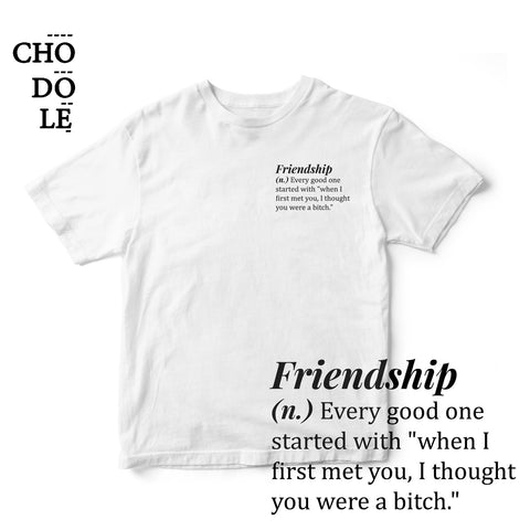 ÁO THUN UNISEX COTTON 100% IN CHỮ Friendship