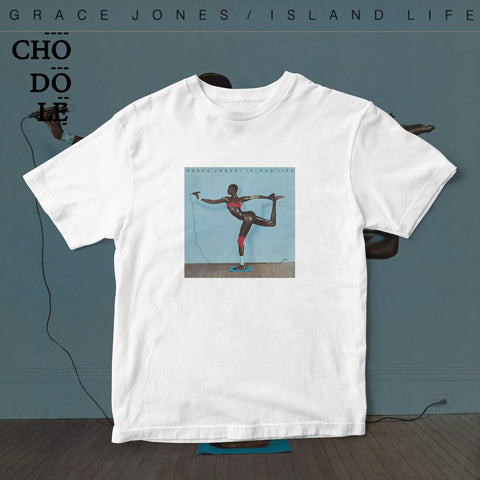 ÁO THUN UNISEX COTTON 100% IN HÌNH  - Grace Jones - Island Life (Album cover)