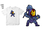 ÁO THUN UNISEX COTTON 100% IN HÌNH Super Heroes series - Iron Skeletor